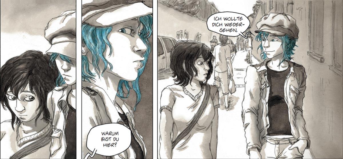 """Clementine und Emma in """"Blau ist eine warme Farbe"""""""