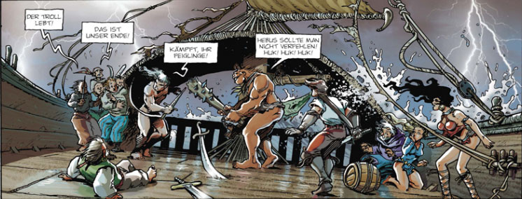 Der Comic Lanfeust 3 - Schloss Blaugold