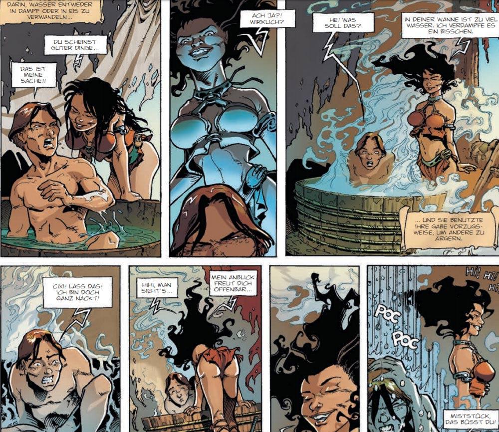 """Szene aus dem Comic """"Lanfeust von Troy 1: Das Elfenbein des Magohamoth"""""""