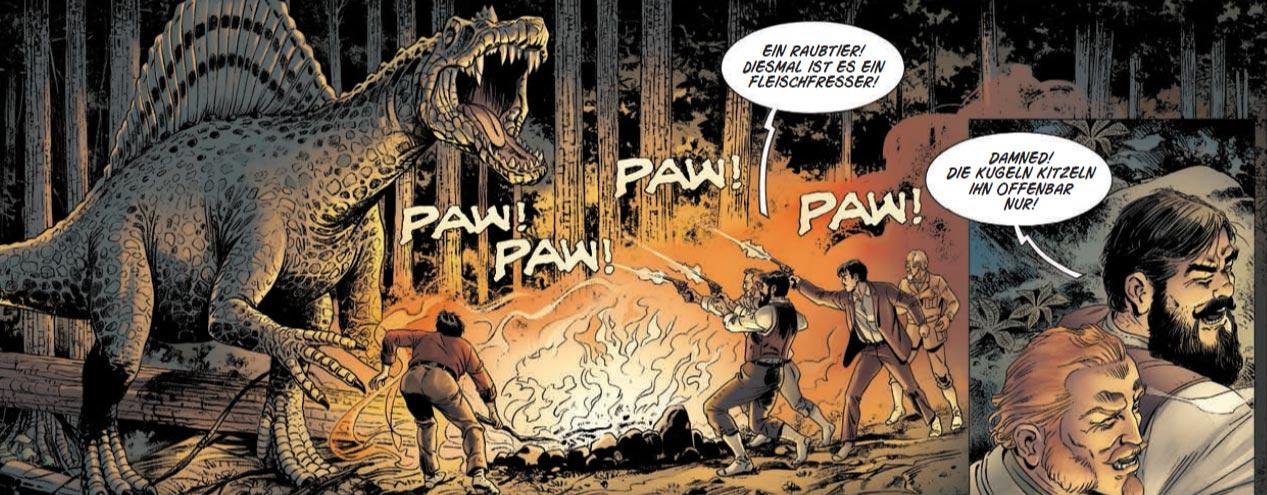 """Szene aus der Graphic Novel""""Vergessene Welt 2"""""""