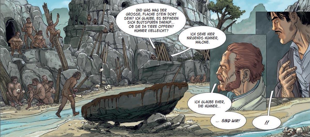 """Bild aus dem Comic""""Vergessene Welt 3"""""""