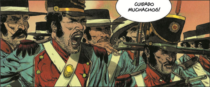 Szene aus der Graphic Novel Geronimo
