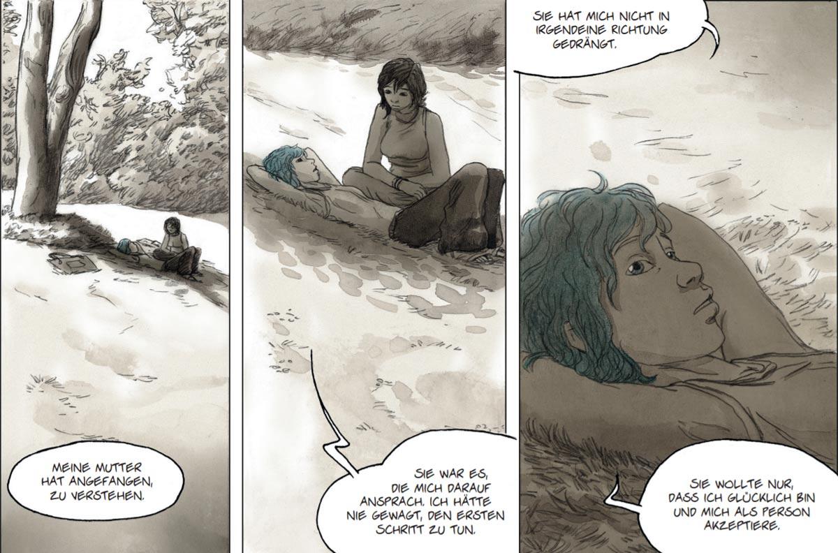 """Szene aus der Graphic Novel """"Blau ist eine warme Farbe"""""""