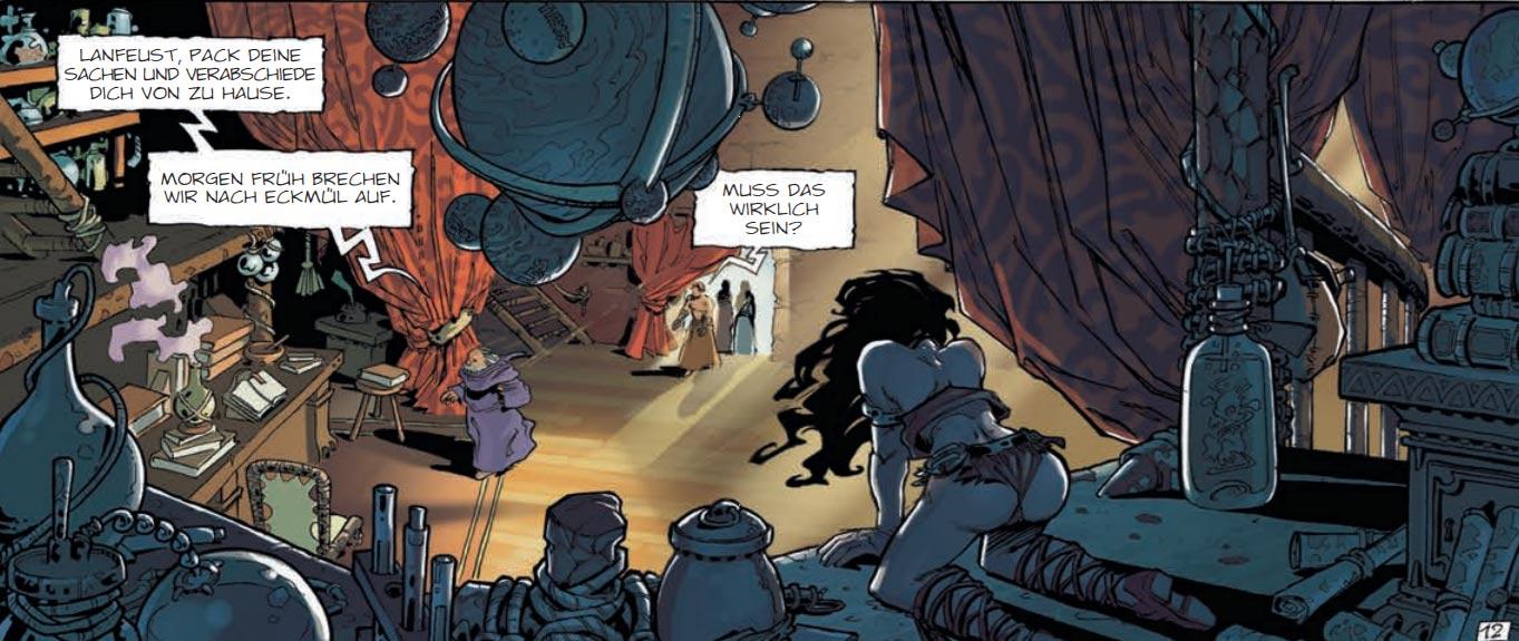 """Szene aus der Graphic Novel """"Lanfeust von Troy 1: Das Elfenbein des Magohamoth"""""""