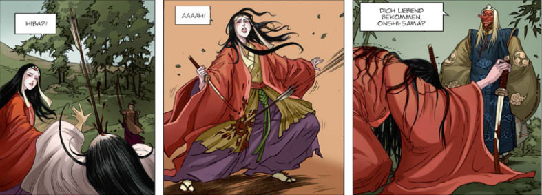 Die Graphic Novel Schatten der Shinobi