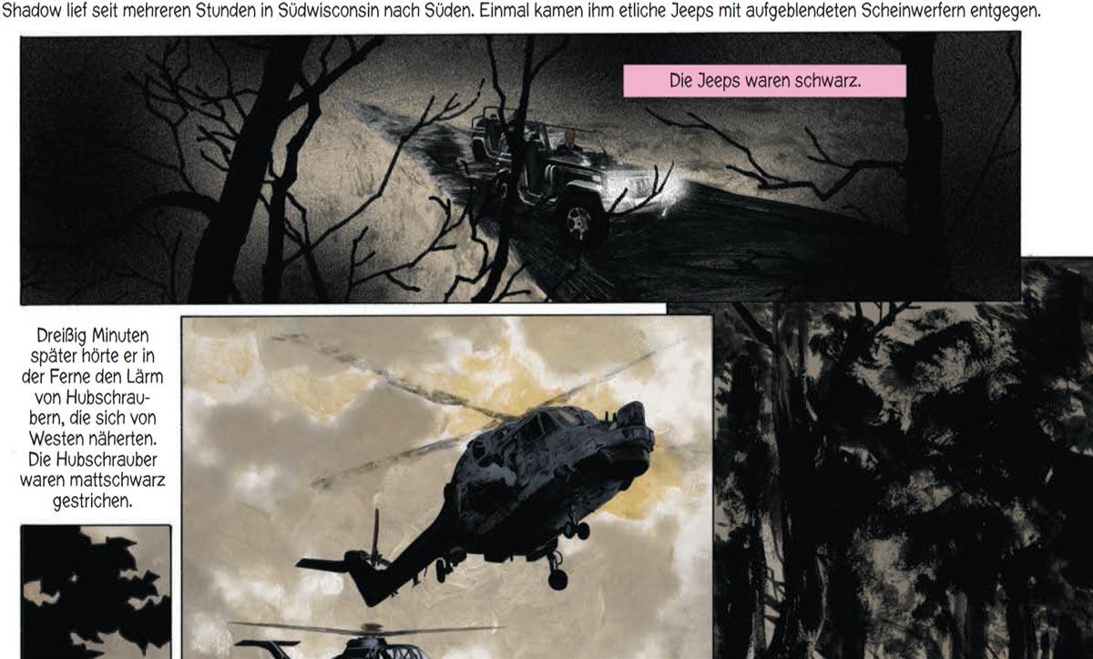 Szene aus der Graphic Novel American Gods-Schatten 2