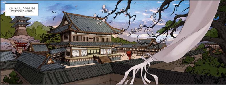 Szene aus dem Comic Schatten der Shinobi