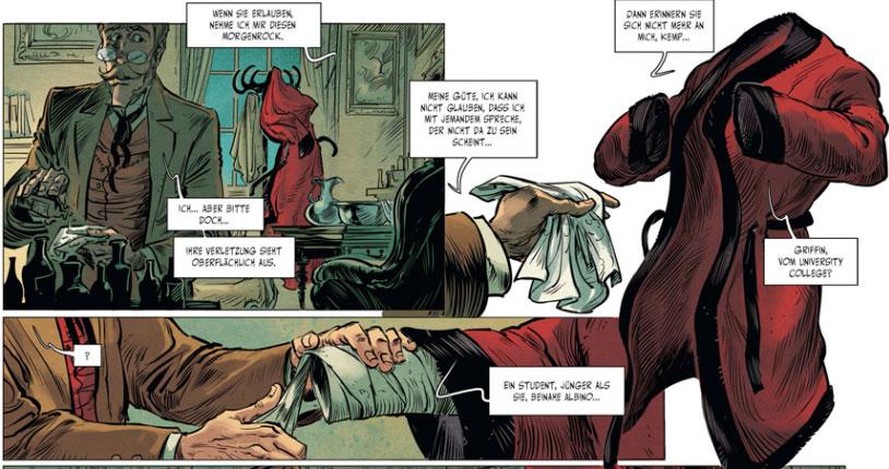 Szene aus der Graphic Novel Der Unsichtbare 2