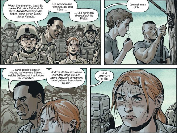 Szene aus dem Comic Lazarus X+66 von Greg Rucka