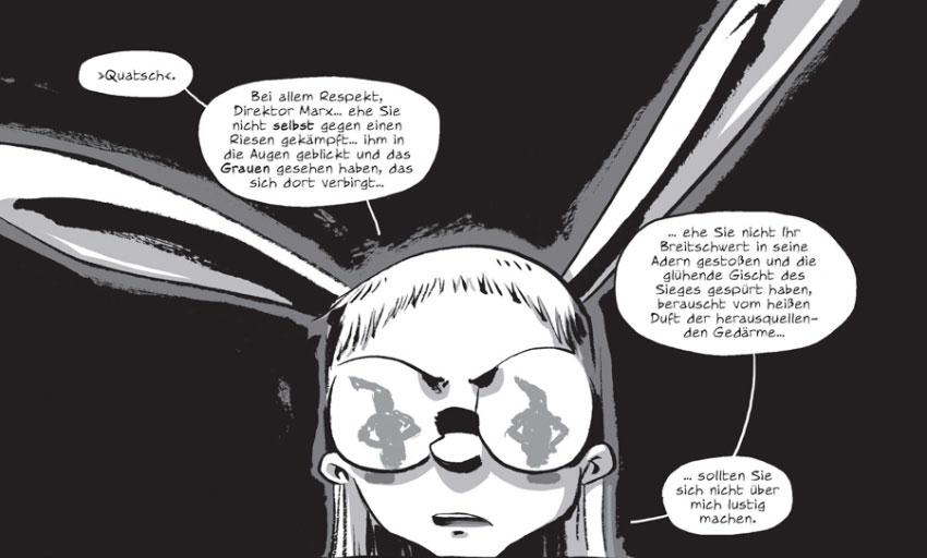 Szene aus der Graphic Novel I Kill Giants von Joe Kelly