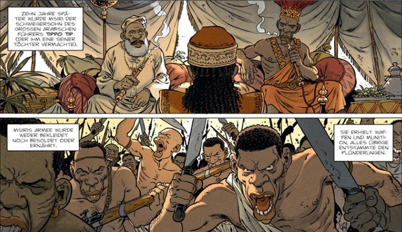 Szene aus dem Comic Katanga-Diamanten