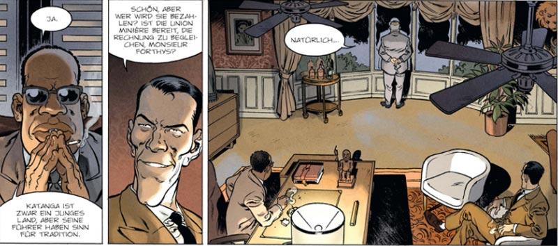 Szene aus der Graphic Novel Katanga-Diamanten