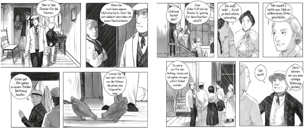 """Szene aus der Graphic Novel """"Der Dschungel"""""""