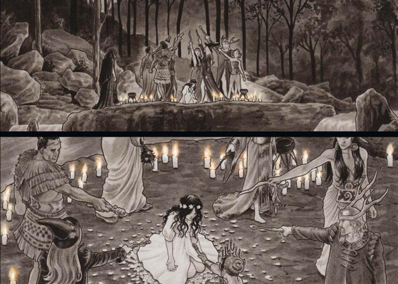 """Szene aus der Graphic Novel """"Black Magick - Das Erwachen 2"""""""