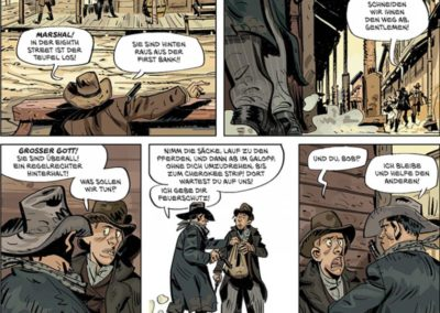 """Szene aus dem Comic """"Die Daltons 1"""" von Olivier Visonneau"""