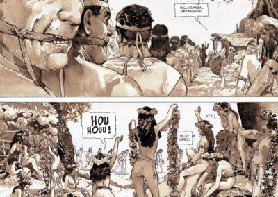 """Szene aus dem Comic """"Das Herz der Amazonen"""""""