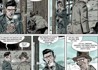 "Szene aus der Graphic Novel ""Die Daltons 1"""