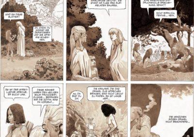 """Szene aus der Graphic Novel """"Das Herz der Amazonen"""""""