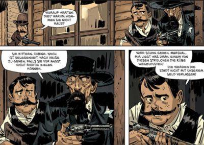 Szene aus dem Comic Die Daltons - Der erste Tote