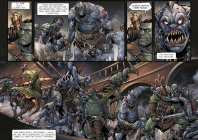 """Szene aus dem Comic """"Orks Goblins 1"""""""